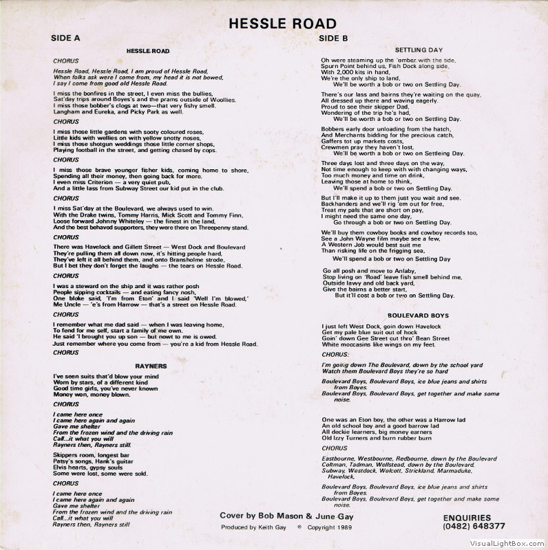 Various Artists - Hessle Road [1989] - Hull Music Archive