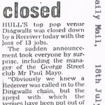 Dingwalls - Hull Daily Mail press clipping