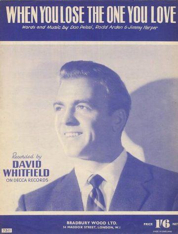 David Whitfield sheet music