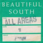 The Beautiful South backstage pass