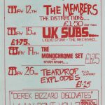 Wellington Club flyer, 1980