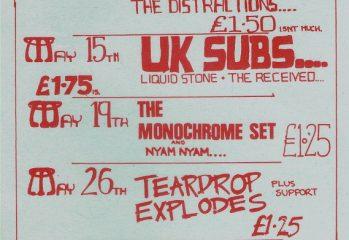 Wellington Club flyer, 1980