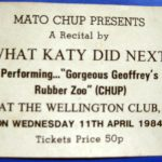 WKDN gig ticket (1984)